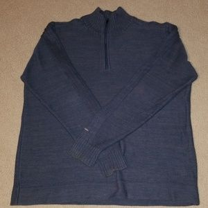 Mens Columbia Mockneck Sweater Size LARGE